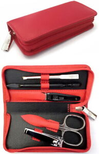 Yes Solingen Set IN Red Kombischere Nail Clipper Manicure Case Becker-Manicure