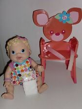 Baby Alive Rose Chair Plus changing time BABY ALIVE INTERACTIVE doll