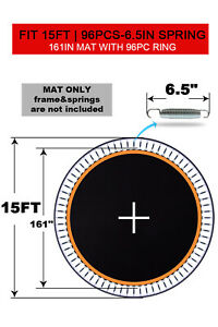 """Trampoline Replacement Mat with 96Ring Fit 6.5"""" Spring15ft Trampoline (Mat Only)"""