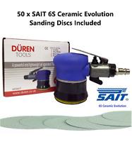 """SMART Repair Air Palm Orbital Sander 75MM (3"""") 50 x 75mm Sanding Discs Included"""