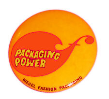 1960s PSYCHEDELIC pin POP ART pinback PACKAGING Power Riegel Fashion Promotion