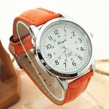 UNISEX Watch Elegant Analog Luxury Sports Leather Strap Quartz Mens Wrist Watch