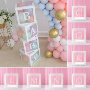 """12"""" inch White Letter Transparent Boxes Wedding Baby Shower Party Decoration"""