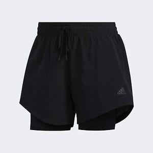 Adidas Womens Girls 2in1 WOV Short Sport Shorts - Size XXS Extra Extra Small 2XS