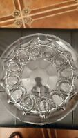 Clear glass deviled egg plate