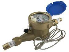 "Dae Mj-50m 1/2"" Lead Free Potable Water Meter,Cubic meter,Pulse Output+Couplings"