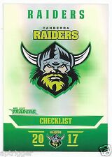 2017 NRL Traders Parallel Special (PS011) RAIDERS Check List