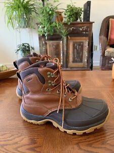 Women's LL BEAN Tek 2.5 Storm Chaser Brown Duck  Waterproof boots Size 7.5