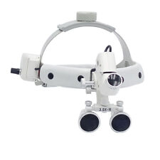 35x R Dental Led Surgical Medical Headband Loupe 5w With Light Dy 106 White