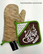 STUCO Set Topflappen Topfhandschuh Backhandschuh Ofenhandschuh TEATIME links