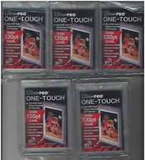 (5) Ultra Pro One Touch 130pt Gold Magnetic Card Holders UV Thick - Jersey Cards