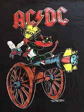 AC/DC vintage 1990 Razors Edge /Australia , New Zealand Tour T Shirt Large Rare