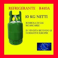 BOMBOLA DI GAS REFRIGERANTE FREON R410A 10KG RICARICABILE SENZA RESO DEL VUOTO