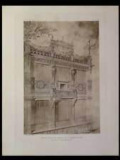 PALAIS ALIMENTATION, EXPO 1889 - 1910 - PLANCHE ARCHITECTURE - GUSTAVE RAULIN