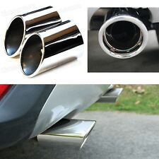 New 2x S.Steel Tailpipe Exhaust Muffler Tail Pipe Tip for Ford Kuga 2013-2017
