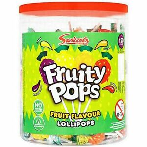 FRUIT LOLLIES BULK PACK OF 120 - Party Favours and Bag Fillers Sweets
