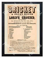 Historic Cricket At Lord's 1853 Advertising Postcard