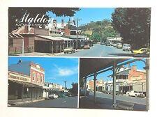 Postcard with 3 General Views of MALDON, MAIN STREET, VICTORIA c1970s