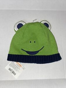 Gymboree frog hat green blue size 3 to 6 months NWT