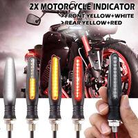 4x che Scorre 24 LED Moto Freccia Indicatori Giorno DRL Luce Freno !