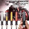 4x Flowing 24 LED Motorcycle Turn Signal Indicators Daytime DRL Brake Light