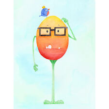 Wee Wild Monsters Theo Glasses Bird Kids XL Wall Art Canvas Print