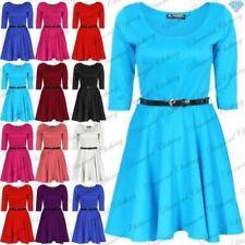 Robes à longueur de manches manches 3/4 en polyester pour fille de 2 à 16 ans