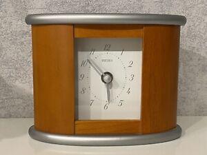 Uhr Tischuhr Kaminuhr von Seiko aus Holz