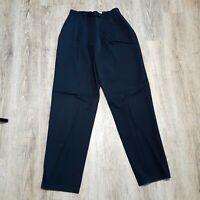 Auer's Denver Women's Dress Pants ~ Sz 4 ~ Black ~ Lined ~ Pleated  ~Wool