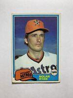 1981 Topps Nolan Ryan Houston Astros #240