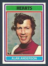 TOPPS 1976 SCOTTISH FOOTBALLERS #014-HEARTS-SCUNTHORPE-MILLWALL-ALAN ANDERSON