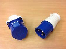 240V 32 amp Surface Socket + 32 amp Plug 2P+E - IP44 240 Volt