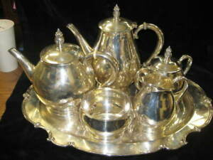 Sterling Coffee/Tea Set (6) Royal Danish C353 Intl Sterling NO Dents/dings