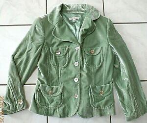 NWOT Banana Republic green Crushed Velvet Blazer Buttons Sz 6 Lined D521