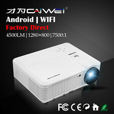 CAIWEI LCD Android Wifi Projector Smart Home Theater Movie Game App HDMI USB