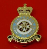RAF Museum Royal Air Force Enamel Pin Badge No XXII 22 Squadron Preux Audacieux