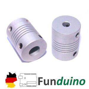Wellenkupplung - 4 * 4 mm für 3D-Drucker, Prusa/Anycubic/Anet/Funduino usw.