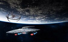 """Star Trek Outer Space Movie Game Art Fabric Wall Poster 21""""x13""""  071"""