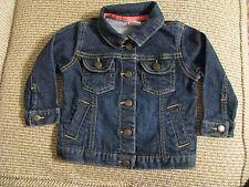 Carter's Blue Jean Denim Jacket Baby Girl Size 12 months