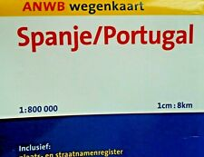 spanje / portugal fold out map by anwb free p&p to uk