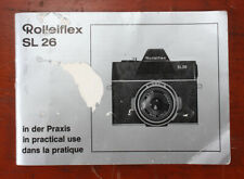 ROLLEI ROLLEIFLEX SL26 INSTRUCTION BOOK, COVER IS BADLY DAMAGED/189557