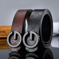 Men's Classic Fashion Buckle Leather Vintage Luxury Men Women Belt Multicolor