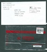 Philippine Postal Corporation - used cover - postal sticker & plastic env.