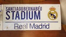 "Real Madrid FC SANTIAGO BERNABEU STADIUM Street Replica Sign 15""x7"" Ronaldo"