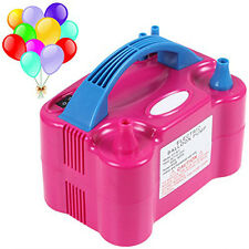 Portable High Power Two Dual Nozzles Air Blower Electric Balloon Inflator Pump#