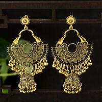 Indian Jhumka Gypsy Jewelry Gold Boho Vintage Ethnic Women Drop Bohemia Earrings