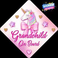 Personalised Baby On Board Car Sign Pink Nanny/'s Princess DIA~C