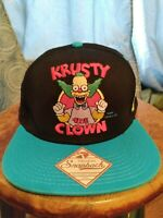 Original Snapback The Simpsons KRUSTY THE CLOWN Embroidered Classic Cap