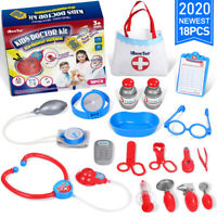 18 in 1 Doctor Nurse Medical Playset Kit Pretend Play Tools Toy Set Kid Gift US