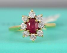 $32500 Tiffany & Co GIA Burma Ruby No Heat 18K Gold Diamond Engagement Ring